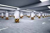 Empty underground parking area — Stock Photo