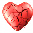 Red breaked heart — Stock Photo