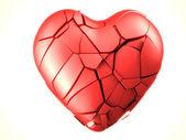 Red breaked heart — Stockfoto
