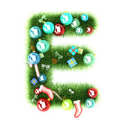 Cristmas alphabet letter — Stock Photo