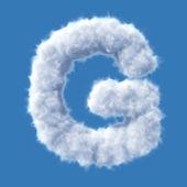 Cloud letter vector — Stock Vector