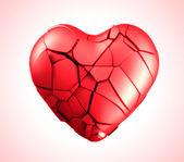 Breaked heart vector illustration — Stock Vector