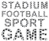 Soccer style words — Foto Stock