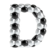 Soccer texture letter — Stock Photo