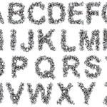 Nuts Alphabet — Stock Photo
