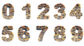Zoo digits — Stock Photo