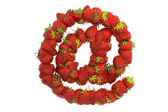 Strawberry symbol — Stock Photo