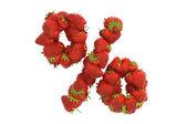 Strawberry symbol % — Stock Photo