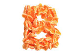 Mandarin letter B on white background — Photo