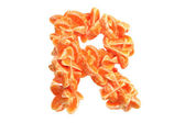 Mandarin letter R on white background — Stock Photo