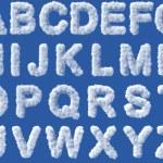 Cloud alphabet on white background — Stock Photo #43693541