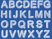 Cloud alphabet on white background — Stock Photo