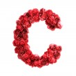 Red roses letter C, isolated on white background — Stock Photo #45850673
