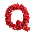 Red roses letter Q, isolated on white background — Stock Photo #45850905