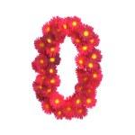 Red flower symbol 0 isolated on white backround — Stock Photo #45862787