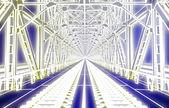 海の上の橋をスケッチします。 — ストック写真