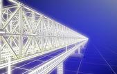Sketch bridge over the Ocean — Stock Photo