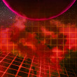 Red Planet Laser Space Background — Stock Photo