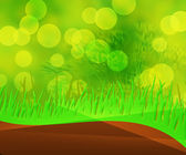 Green Grass And Sky Background — Stock Photo