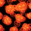 Halloween Evil Pumpkin Background — Stockfoto