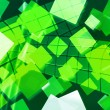 Stock Photo: Green Rectangles Abstract Background