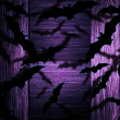 Bats Halloween Violet Background — Stock Photo