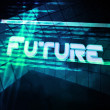 Future Abstract Source Code Background - Stock Photo