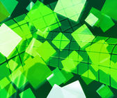 Green Rectangles Abstract Background — Stock Photo