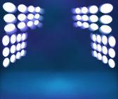 Spotlight Blue Room Stage Background — Stock Photo