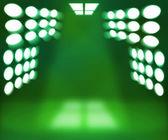 Spotlight Green Room Background — Stock Photo