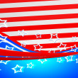Stock Photo: AmericFlag Independence Day Background