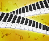 Piano Keys Music Background Texture — Stock Photo