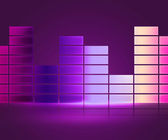 Equalizer Music Violet Background — Stock Photo