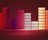 Red Equalizer Music Background — Stock Photo