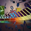 Royalty-Free Stock Photo: Music Abstract Background