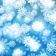 Snow Blue Winter Bokeh Background — Stock fotografie #13826898