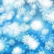Snow Blue Winter Bokeh Background — 图库照片 #13826898