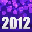 2012 Violet New Year Background Stage — Stock Photo
