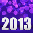 2013 Violet New Year Background Stage - Stock Photo