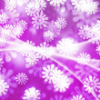 Violet Winter Bokeh Background — Stockfoto