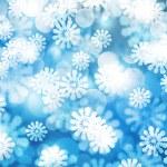 Blue Winter Bokeh Background Texture — Stock Photo