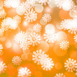 ストック写真: Gold Winter Bokeh Background