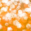 Gold Winter Bokeh Background — Stockfoto