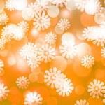 Gold Winter Bokeh Background — Stock Photo
