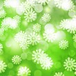 Green Winter Bokeh Background — Stok fotoğraf