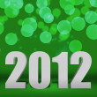 2012 Green New Year Background Stage — Stock Photo #13827030