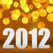 2012 Gold New Year Background Stage — Stock Photo #13827032
