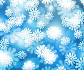 Snow Blue Winter Bokeh Background — Zdjęcie stockowe