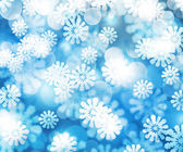 Blue Winter Bokeh Background Texture — Photo