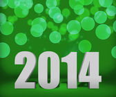 2014 Green New Year Background Stage — Stock Photo